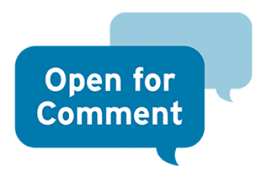 Dialogue bubbles that say open for comment